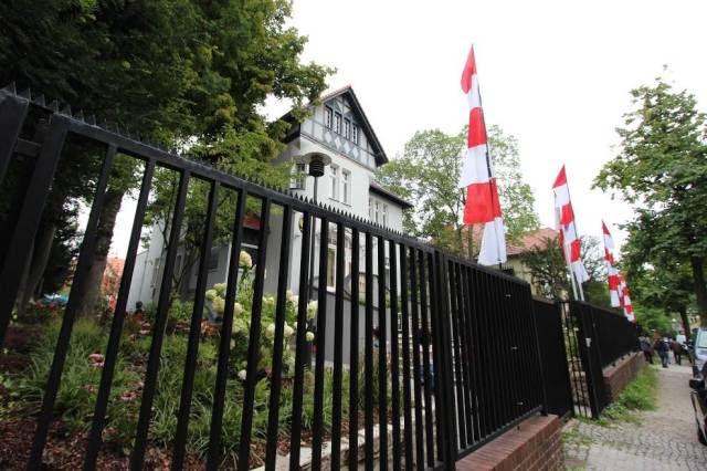 Umbul-umbul Merah Putih di Wisma Dubes RI di Berlin. Sumber: Dok. pribadi