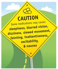 Drug Safety Caution Sign