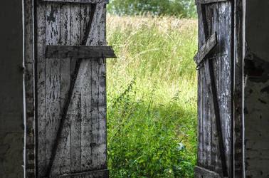 Open barn door