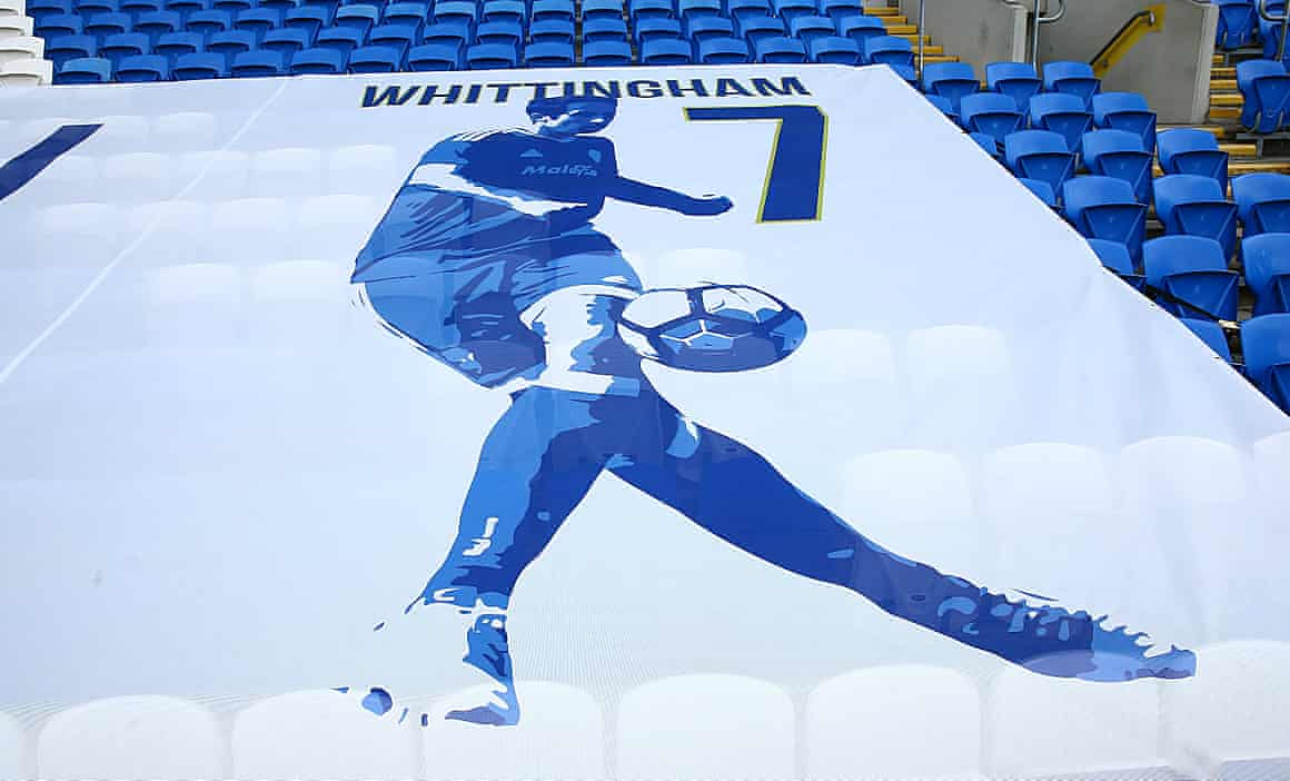 A tribute to Peter Whittingham at Cardiff.