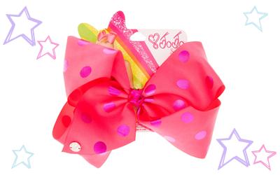 JoJo Siwa Large Pink & Purple Polka Dot Hair Bow