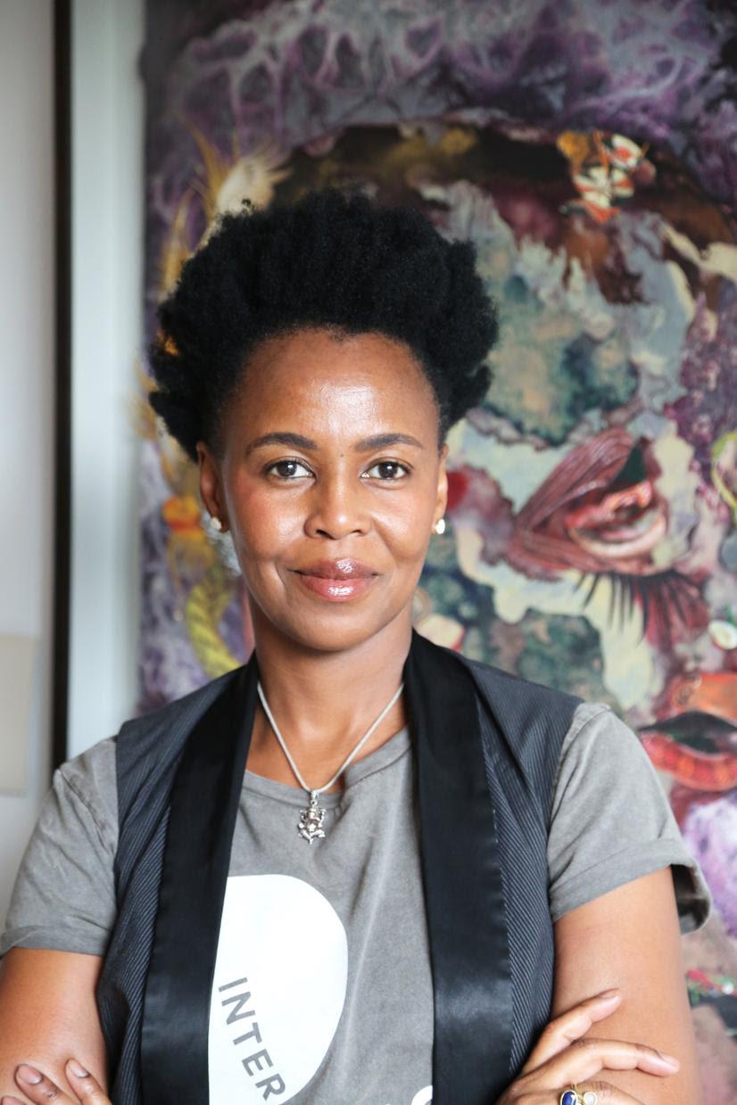 Portrait of artist Wangechi Mutu
