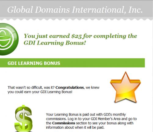 Complete GDI Learning Bonus