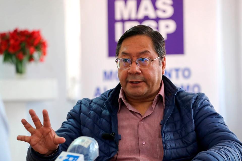 Luis Arce, en sus primeras entrevistas como presidente electo de Bolivia.