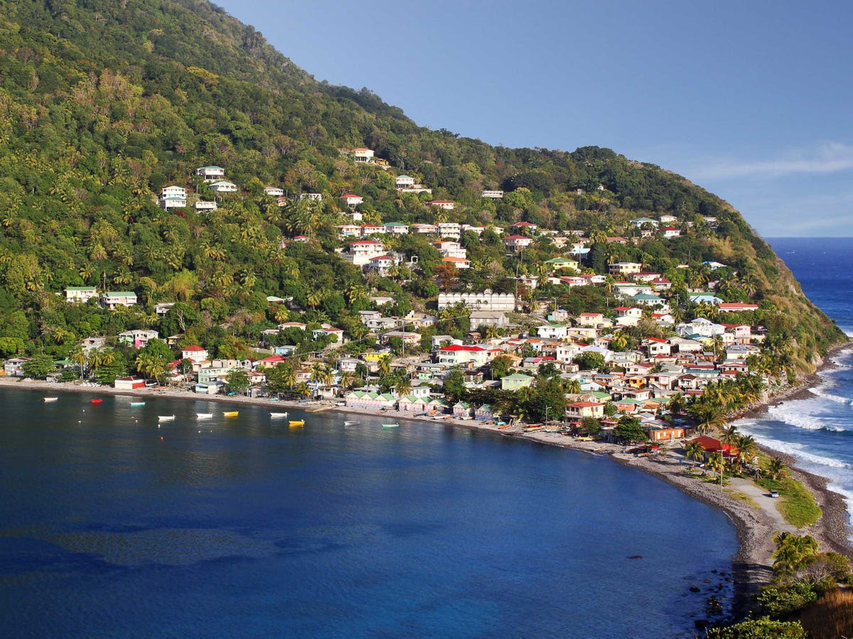 25. (tie) Dominica: 78,000 tourists