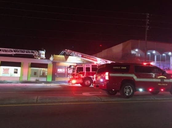 The department said the fire was caused by rags soaked in a flammable liquid that weren't disposed of properly.