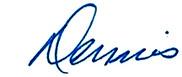 Senator Dennis Linthicum signature