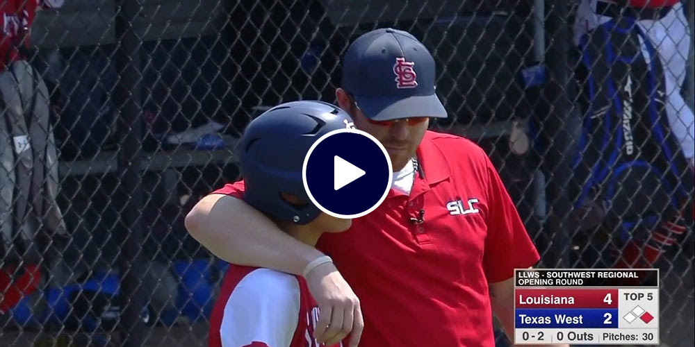 player and coach before at bat