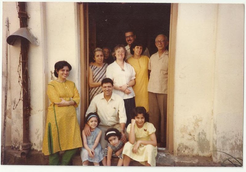 The author with her family, post-topli paneer.