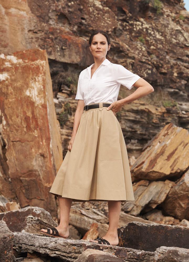 Shirt, skirt and belt