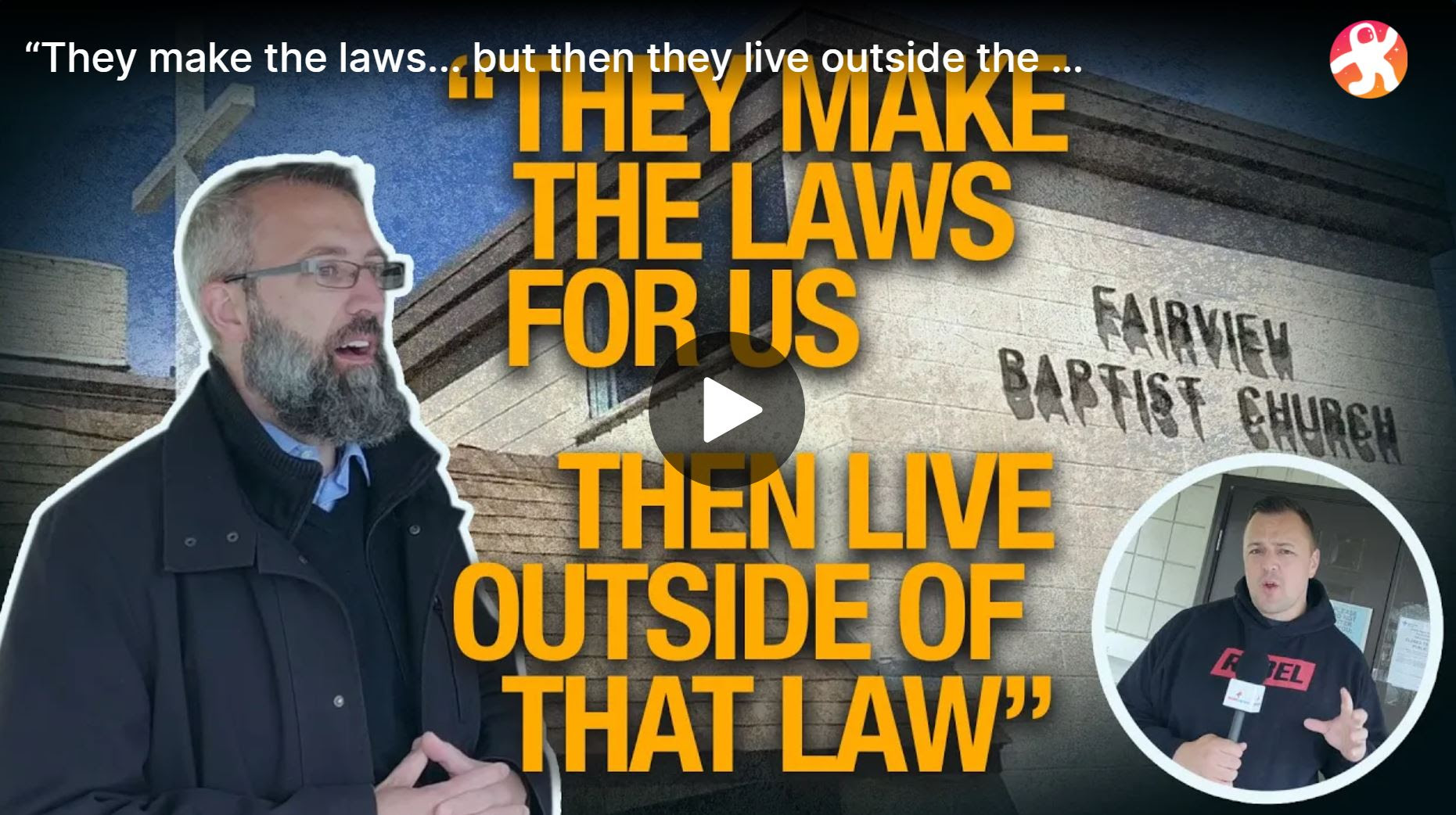"""""""They make the laws... but then they live outside the law""""   Pastor Tim Stephens on public health"""