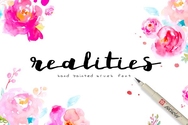 Realities Brush Font
