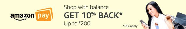 Get 10% cashback* with Amazon Pay balance