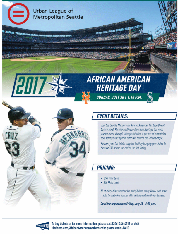 Seattle Mariners for African American Heritage Day @ Safeco Field | Seattle | Washington | United States