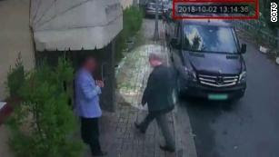 CCTV footage shows Saudi Journalist Jamal Khashoggi entering the Saudi consulate on October 2.