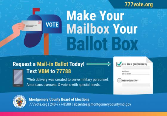 make your mailbox your ballot box
