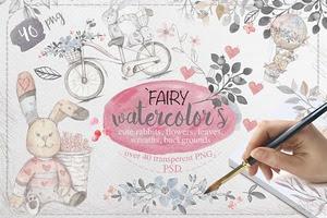 Fairy watercolors Bundle