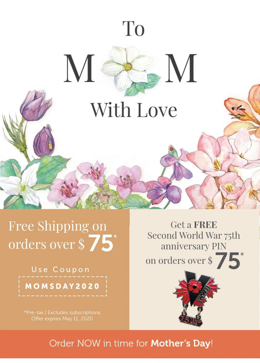 Mothers Day Promotion + Get a Free WW II 75th Anniversary Pin