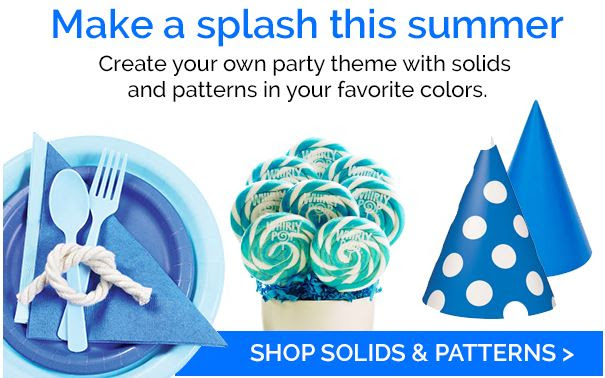solid color party supplies at birthday express