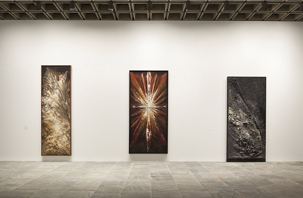 Installation view of Jay DeFeo: A Retrospective