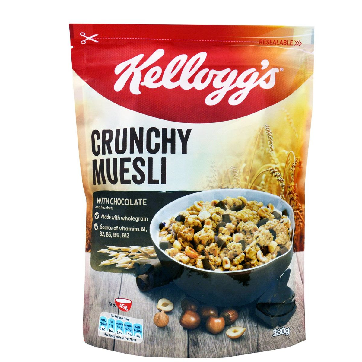 Kellogg's Crunchy Museli with Chocolate and Nuts 380g
