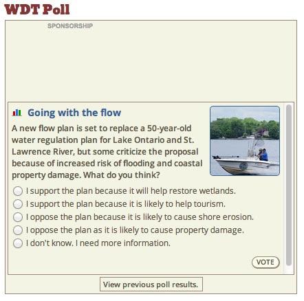 WDT Plan 2014 Poll