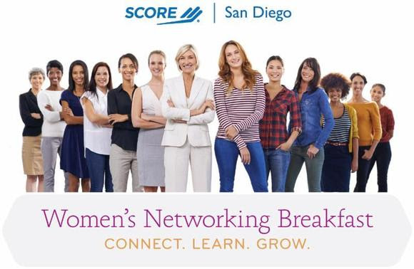 Image Graphic of a group of women for SCOREs Womens Networking Breakfast Flyer Connect Learn Grow