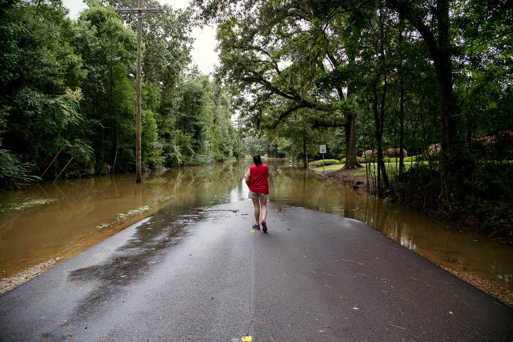 Tammy Phillips of Denham Springs, La., where there was severe flooding last week.
