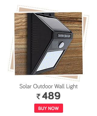 Bentag 20 LED 4W Solar Motion Sensor Outdoor Wall Light - Pack of 1