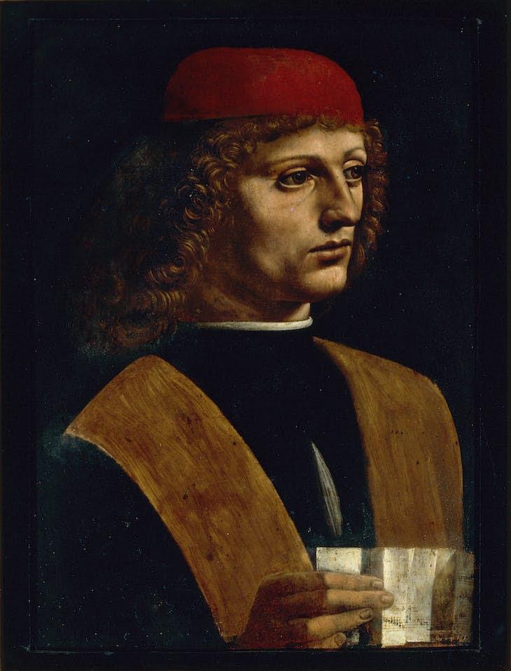 Portrait of a Musician (1485–90), Leonardo da Vinci