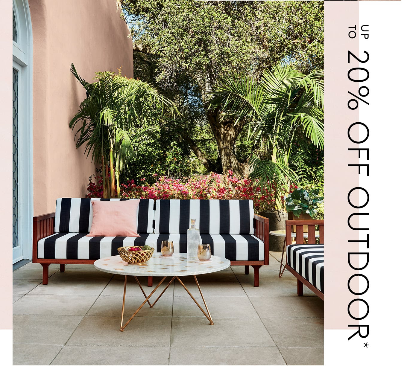 up to 20% off outdoor*