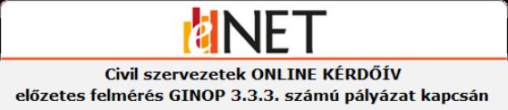 Online kérdőív a GINOP 3.3.3-17 pályázat kapcsán