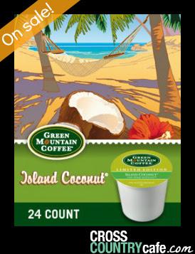 Island Coconut Keurig K-cup coffee sale