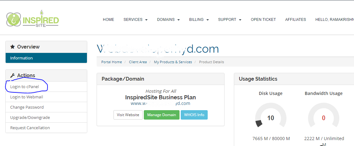Login to Cpanel Link