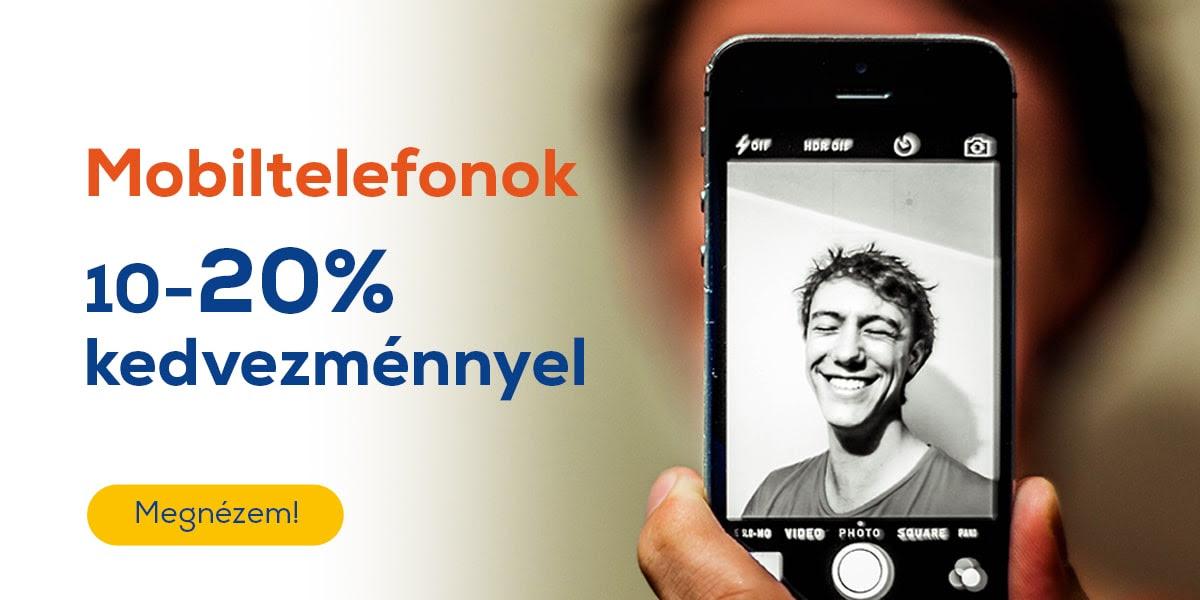 Kupon napok - Mobiltelefonok 10-20% kedvezménnyel