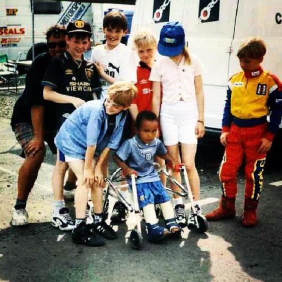 Nicolas Hamilton quando criança