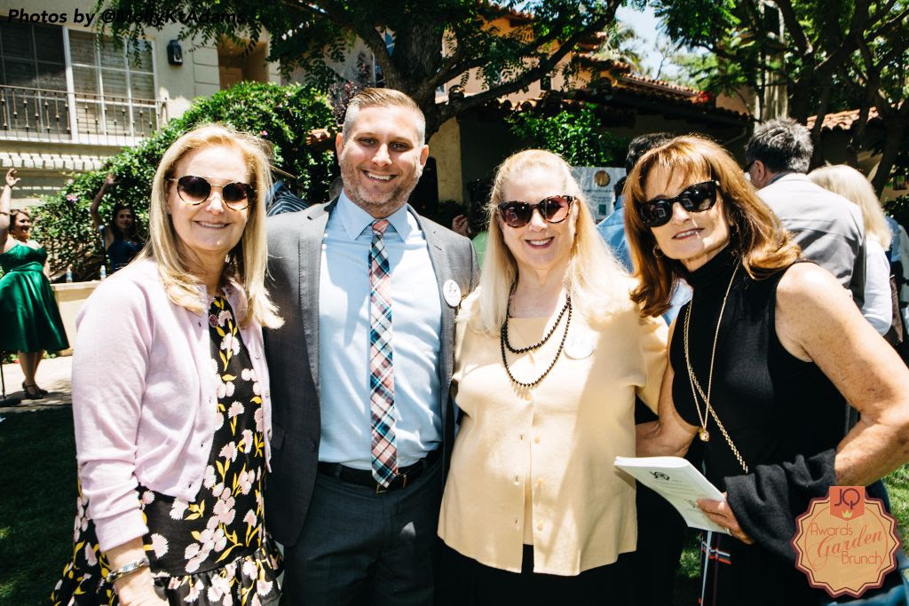 (L to R) Lynn Bider with Asher Gellis and guests of the 2016 Awards Garden Brunch