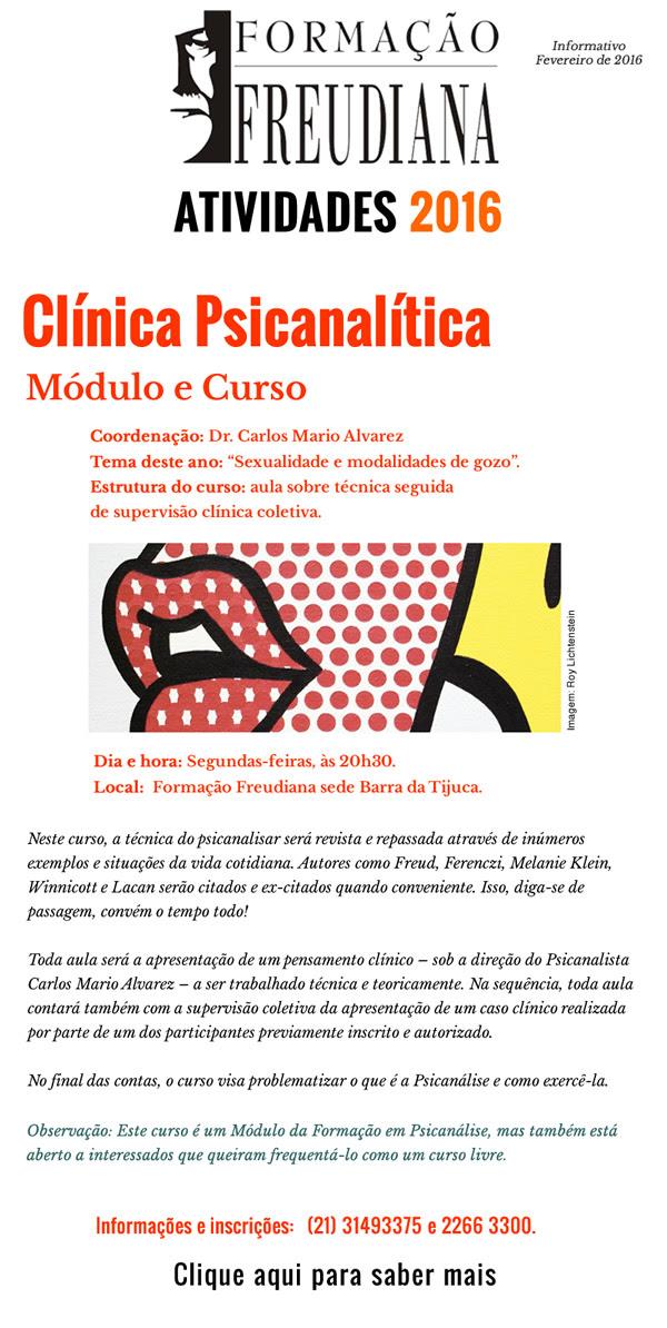 Clínica Psicanalítica - Módulo e Curso - habilite as imagens para ver o clique aqui