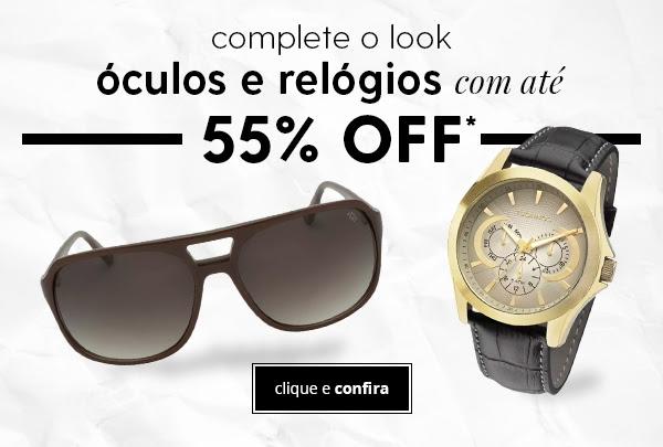 Relógios e óculos