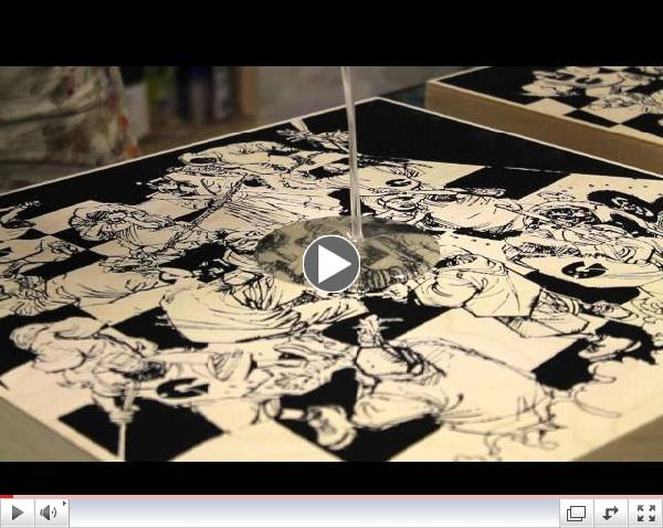 Click here to see how the screen-printed Liquid Swords Wood Block Prints are produced by AntiDesigns!