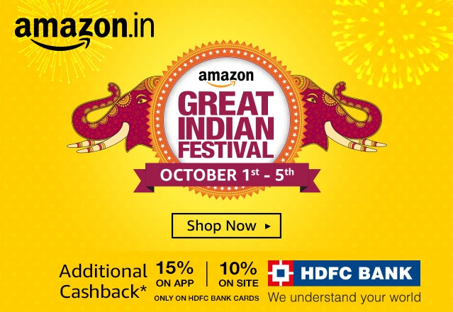 AMAZON GREAT INDIAN FESTIVAL STARTS AT MIDNIGHT TONIGHT !