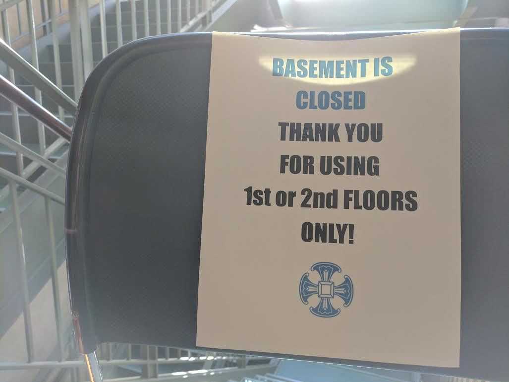 basement is closed