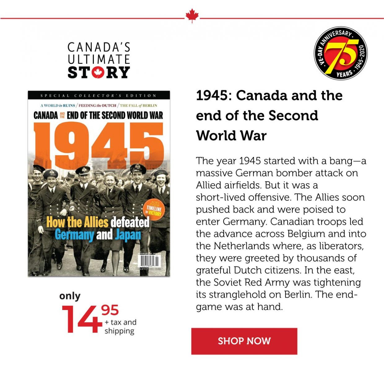 1945 – Canada and the end of the Second World War