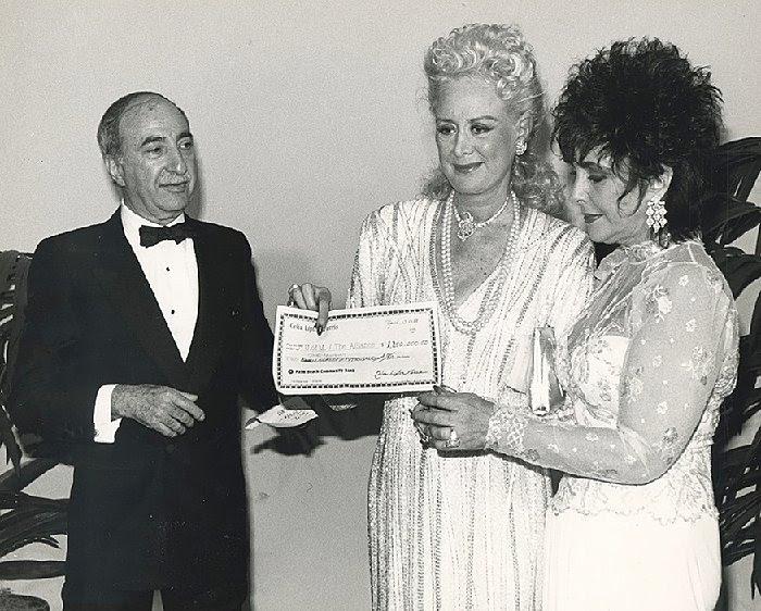 Charlie with Celia Lipton and Elizabeth Taylor