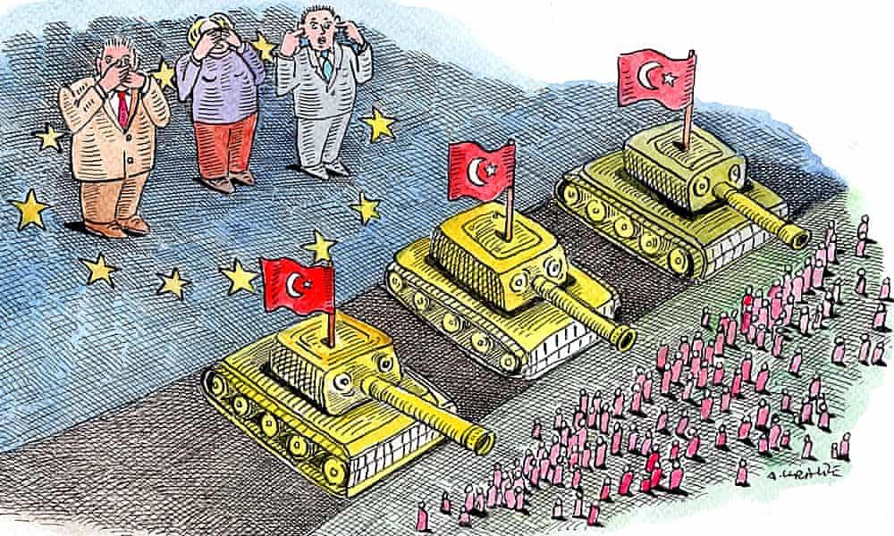 Andrzej Krauze on the EU's failings over Syria – cartoon