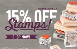 WOW! Seriously? 15% off all Stampin' Up stamps October 19 - 23, 2015! Order today at www.SimplySimpleStamping.com!