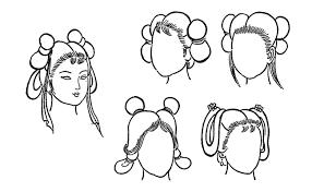 Image result for có bao nhiêu kiểu búi tóc của người xưa