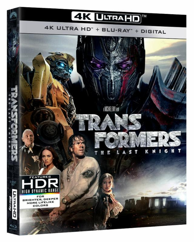 Transformers News: Transformers: The Last Knight Available on Blu-ray and DVD on September 26th Press Release