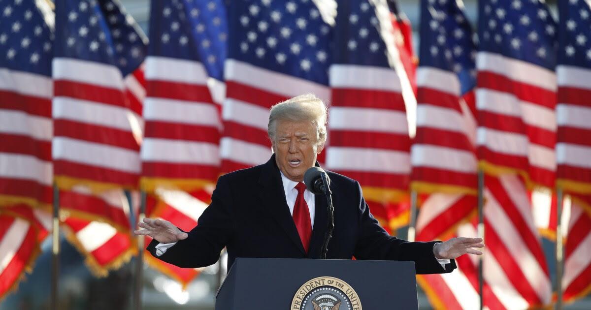Donald Trump gives a speech.