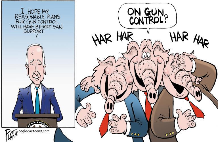 BIDEN'S GUN CONTROL PLANS, PRESIDENT JOE BIDEN, GUN CONTROL, EXECUTIVE ORDERS, BACKGROUND CHECKS, REPUBLICAN PARTY, RNC, GOP, STABILIZER BRACES, GHOST GUNS, RED FLAG LAWS, LOOPHOLES